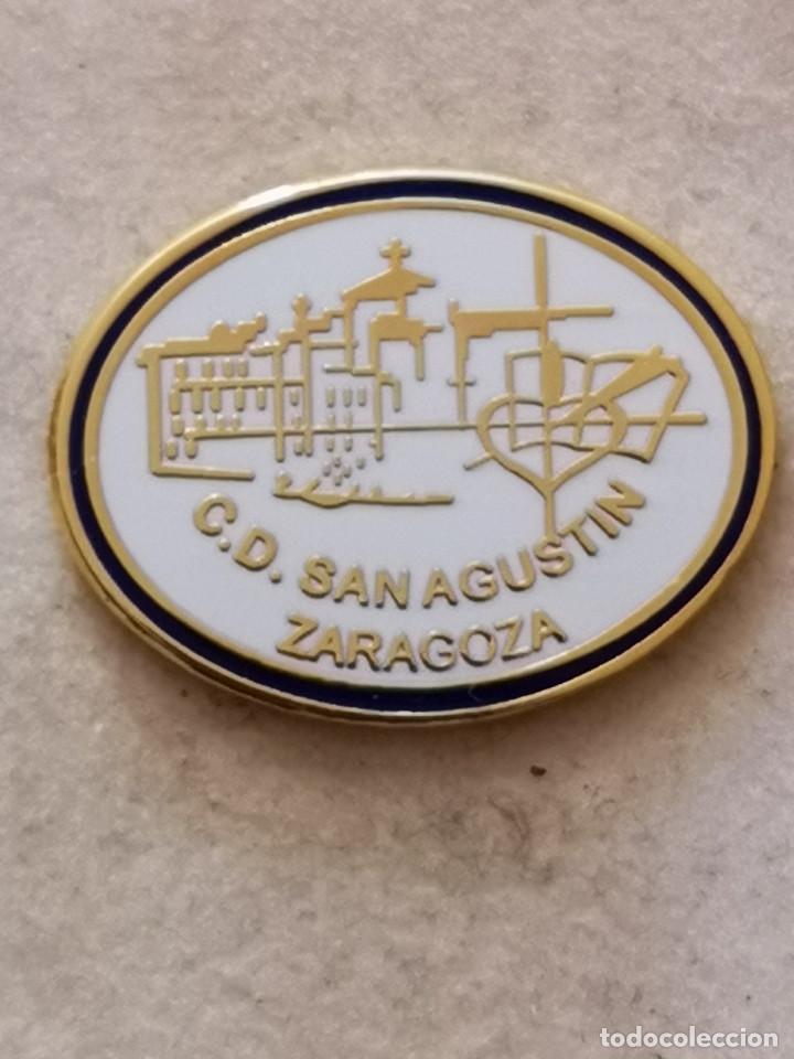 PIN FUTBOL - ZARAGOZA - CD SAN AGUSTIN (Coleccionismo Deportivo - Pins de Deportes - Fútbol)