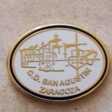 Coleccionismo deportivo: PIN FUTBOL - ZARAGOZA - CD SAN AGUSTIN. Lote 222098816