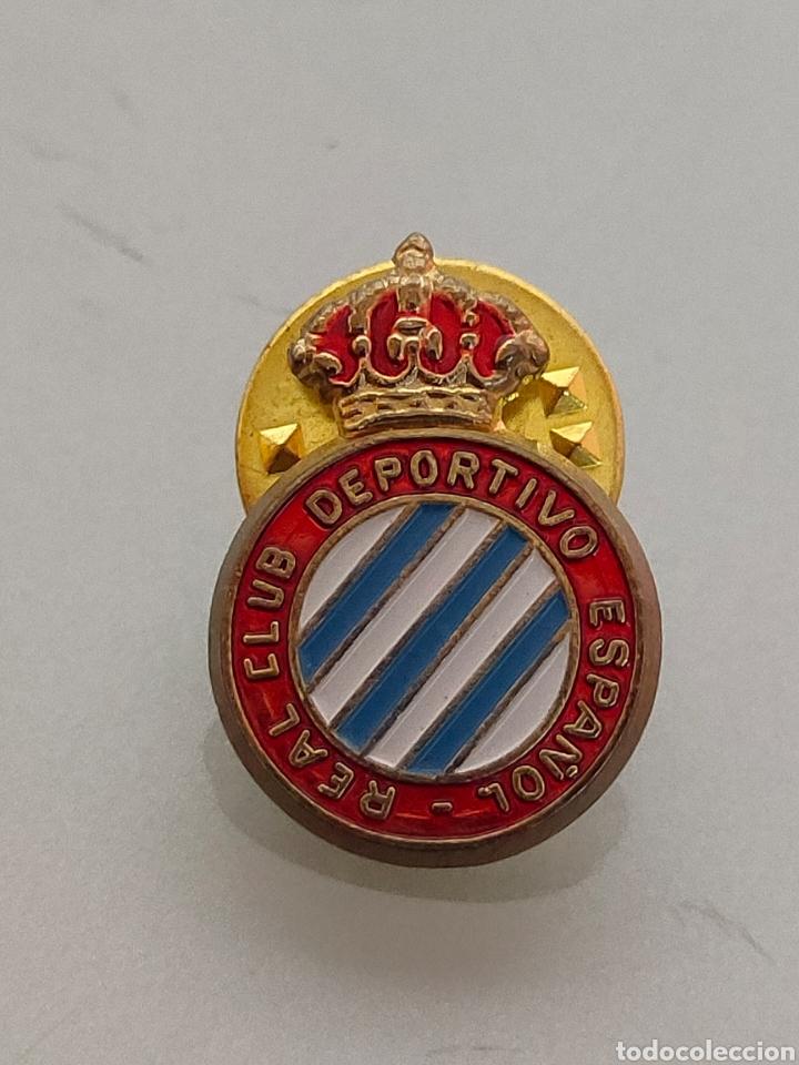 ANTIGUO PIN OFICIAL R.C DEPORTIVO ESPAÑOL CON Ñ (Coleccionismo Deportivo - Pins de Deportes - Fútbol)