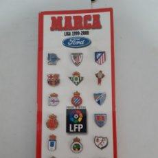 Coleccionismo deportivo: PINS LIGA 1999 2000 99 00 MARCA COMPLETO. Lote 222631836