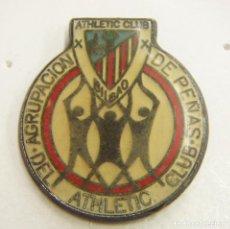 Coleccionismo deportivo: PIN ATHLETIC CLUB BILBAO AGRUPACION DE PEÑAS. Lote 222754852