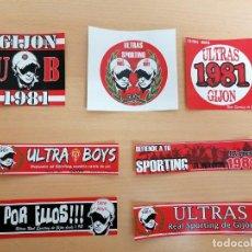 Coleccionismo deportivo: PEGATINA ADHESIVO FUTBOL ULTRA BOYS SPORTING GIJON. Lote 254555570