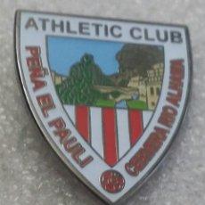 Coleccionismo deportivo: ATHLETIC CLUB BILBAO PIN PEÑA EL PAULI DE CERVERA DEL RIO ALHAMA LA RIOJA. Lote 235988840