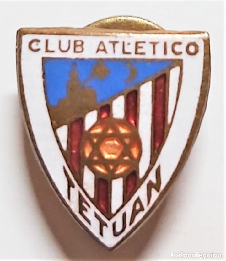 CLUB DE FÚTBOL ATLÉTICO DE TETUÁN. PIN INSIGNIA ESMALTADA . EXCELENTE ESTADO. (Coleccionismo Deportivo - Pins de Deportes - Fútbol)