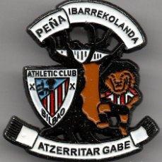 Colecionismo desportivo: PINS PEÑAS ATHLETIC PEÑA IBARREKOLANDA ATZERRITAR GABE (BILBAO). Lote 241655610
