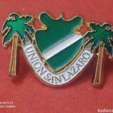 Collezionismo sportivo: PINS DE FÚTBOL OFICIAL UNION SAN LÁZARO LAA PALMAS. Lote 243602365