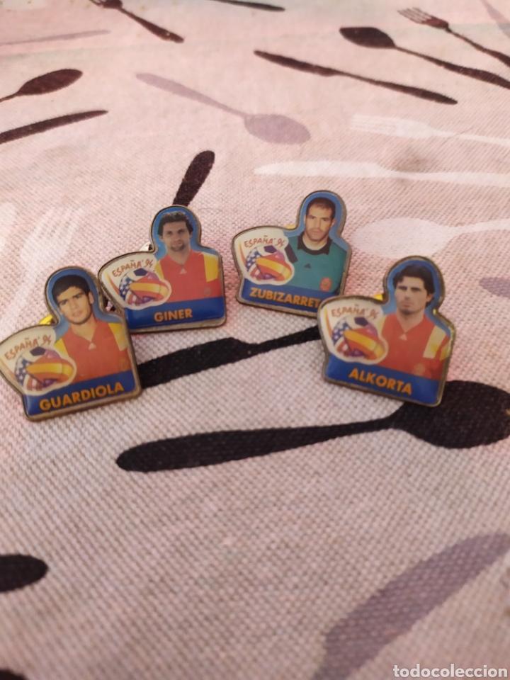PINS SELECCIÓN ESPAÑA USA 94 CHAMBOURCY (Coleccionismo Deportivo - Pins de Deportes - Fútbol)