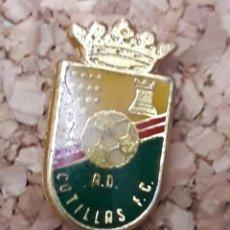 Coleccionismo deportivo: INSIGNIA ESCUDO A.D. COTILLAS F.C.. Lote 244450675