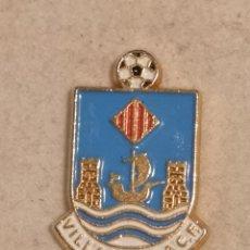 Coleccionismo deportivo: PIN FUTBOL - ALACANT / ALICANTE - VILA JOIOSA / VILLAJOYOSA - VILLAJOYOSA CF. Lote 254666000