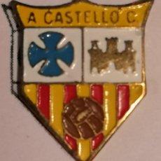 Coleccionismo deportivo: PIN FUTBOL - GIRONA - CASTELLÓ D'EMPURIES - - ACCIÓ CATOLICA CASTELLÓ. Lote 260788875