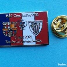 Coleccionismo deportivo: PIN FUTBOL - FINAL COPA DEL REY 2021- F.C. BARCELONA & ATHLETIC CLUB BILBAO - MODELO 1. Lote 261657590