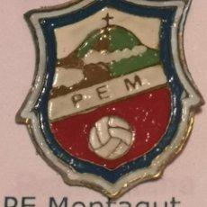 Coleccionismo deportivo: PIN FUTBOL - GIRONA - MONTAGUT I OIX - PE MONTAGUT. Lote 262511925