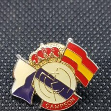 Coleccionismo deportivo: PIN REAL MADRID CAMPEON. Lote 262967665