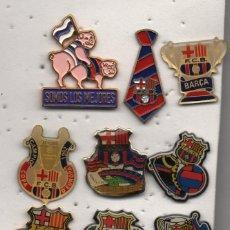 Coleccionismo deportivo: LOTE DE 10 PINS-F.C.BARCELONA-BARCELONA. Lote 263190325