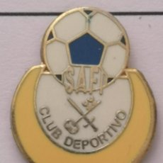 Coleccionismo deportivo: PIN FUTBOL - BARCELONA - EL PRAT DE LLOBREGAT - CD SAFI. Lote 276614828