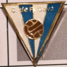 Coleccionismo deportivo: PIN FUTBOL - BARCELONA - GAVÀ - CF GAVÀ - ESCUDO DE 1941. Lote 277113133