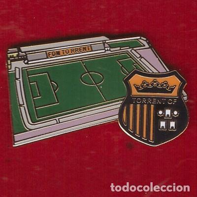 PIN ESTADIO DE FÚTBOL MUNICIPAL SAN GREGORIO ( TORRENT ) (Coleccionismo Deportivo - Pins de Deportes - Fútbol)