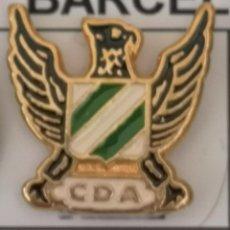 Coleccionismo deportivo: PIN FUTBOL - BARCELONA - HOSPITALET DE LLOBREGAT - CD AGUILARENSE. Lote 277668953