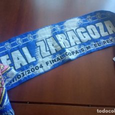 Coleccionismo deportivo: REAL ZARAGOZA FINAL BUFANDA FUTBOL FOOTBALL SCARF. Lote 277696073