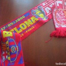 Coleccionismo deportivo: FC BARCELONA FINAL ARSENAL BUFANDA FUTBOL FOOTBALL SCARF. Lote 277696348