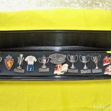Coleccionismo deportivo: 12 PINS DEL CLUB DE FÚTBOL REAL ZARAGOZA. Lote 285491348