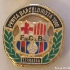 Coleccionismo deportivo: PIN FUTBOL - BARCELONA - TERRASSA - PENYA BARCELONISTA 1900. Lote 290005658