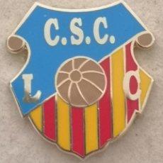 Coleccionismo deportivo: PIN FUTBOL - BARCELONA - LES CORTS - CS CATALUNYA LES CORTS. Lote 292286838