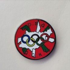 Coleccionismo deportivo: PIN DE FÚTBOL... CLUB DEPORTIVO SORDOS GUIPÚZCOA. G. G. K. E...DONOSTIA GUIPÚZCOA. Lote 293568408
