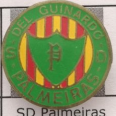 Coleccionismo deportivo: PIN FUTBOL - BARCELONA - SD PALMEIRAS DEL GUINARDO - SOLAPA. Lote 293858588