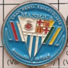 Coleccionismo deportivo: PIN FUTBOL - BARCELONA - GRAN PENYA ESPANYOLISTA MANIGUA. Lote 293859563