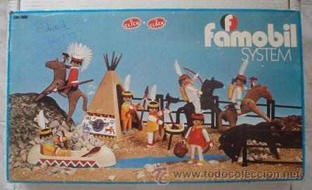 FAMOBIL PLAYMOBIL REF. 3406 SIETE INDIOS. (Juguetes - Playmobil)