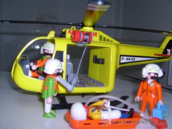 Playmobil helicoptero rescate salvamento refere comprar for Helicoptero playmobil