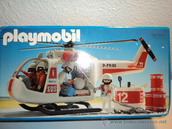 Helicoptero de rescate playmobil ref 3789 comprar for Helicoptero playmobil