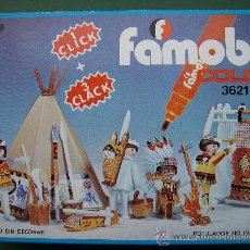 Playmobil: CAJA PLAYMOBIL FAMOBIL INDIOS COLOR REF 3621. Lote 27485506