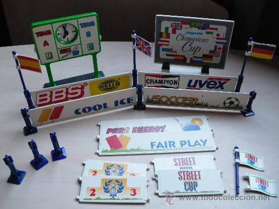 PLAYMOBIL SET VALLAS Y SEÑALES DEPORTIVAS CARRERAS FUTBOL FAMOBIL - PLAYMOBIL (Juguetes - Figuras de Acción - Playmobil)
