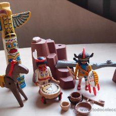 Playmobil: PLAYMOBIL SET INDIOS CON TOTEM OESTE FAMOBIL - PLAYMOBIL. Lote 25638726