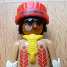 Playmobil: FIGURA PLAYMOBIL INDIO COLLAR AMARILLO. Lote 28375689