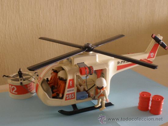 Playmobil helicoptero de rescate comprar playmobil en for Helicoptero playmobil