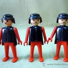 Playmobil: 3 FIGURAS ARTICULADAS, CLICK, FAMOBIL, MEDIEVALES, PRIMERA EPOCA, MANOS FIJAS, 1970S. Lote 31690439