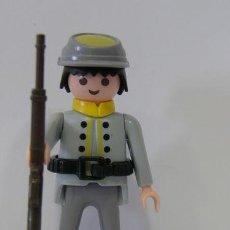 Playmobil: PLAYMOBIL FIGURA SOLDADO SUDISTA MORENO CONFEDERADO FUERTE OESTE WESTERN. Lote 194398480