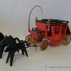 Playmobil: PLAYMOBIL CARAVANA DILIGENCIA VAQUEROS INDIOS OESTE WESTERN CARRETA CARRO PIEZAS. Lote 32107105
