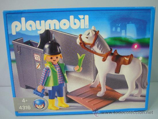 PLAYMOBIL 4316 NUEVO – PARA GRANJA CABALLO PONI REMOLQUE (Juguetes - Figuras de Acción - Playmobil)