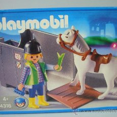 Playmobil: PLAYMOBIL 4316 NUEVO – PARA GRANJA CABALLO PONI REMOLQUE. Lote 32485952