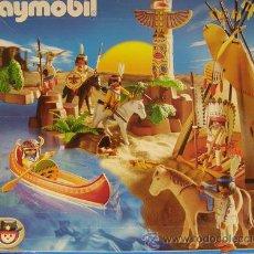 Playmobil: PLAYMOBIL GRAN POBLADO INDIO REF: 3250 COMPLETO EN CAJA OESTE WESTERN INDIOS VAQUEROS. Lote 32745413