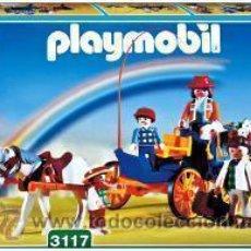 Playmobil: PLAYMOBIL FAMILIA GRANJEROS CARRETA ANIMALES GRANJA REF: 3117 NUEVO EN CAJA SIN ABRIR. Lote 32755179