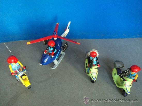Playmobil motos helicoptero equipo de tv comprar for Helicoptero playmobil