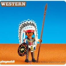 Playmobil: PLAYMOBIL 6271 JEFE INDIO. Lote 35571101