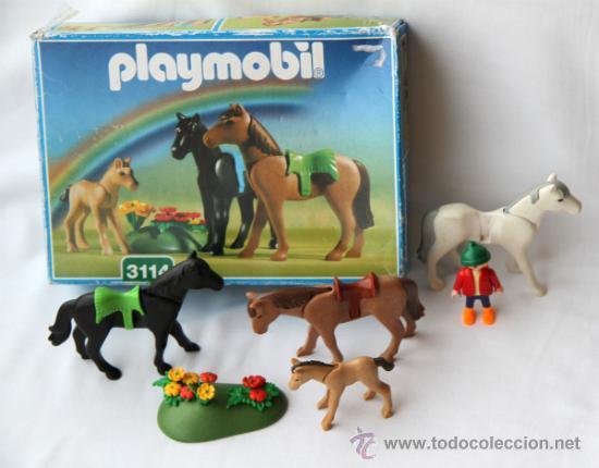 Set caballos playmobil ref 3114 animales d comprar for La granja de playmobil precio