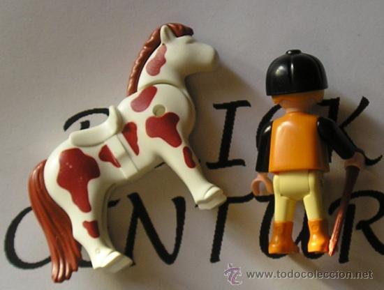 Playmobil: PLAYMOBIL 5893 ACCESORIO CAMPO / GRANJA / ESTABLO MONTAR - Niño Nº 7 Jinete , fusta & Pony Shetland - Foto 2 - 35695682