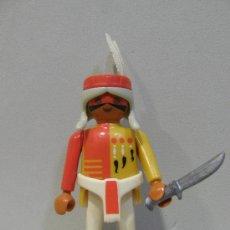 Playmobil: PLAYMOBIL FIGURA INDIO PLUMAS POBLADO INDIOS OESTE WESTERN VAQUEROS PIEZAS. Lote 46115202